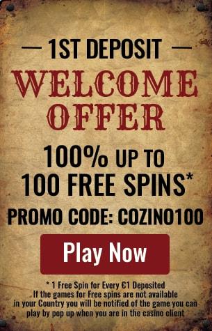 cozino casino welcome package