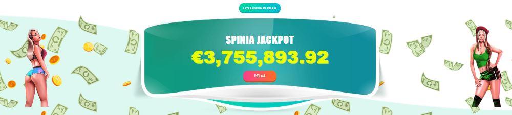 spinia jackpot pelit