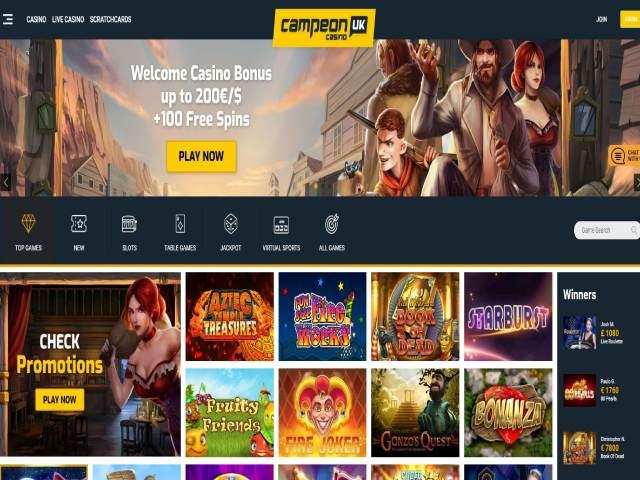 Visit CampeonUK Casino