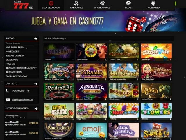 Visit Casino777.es