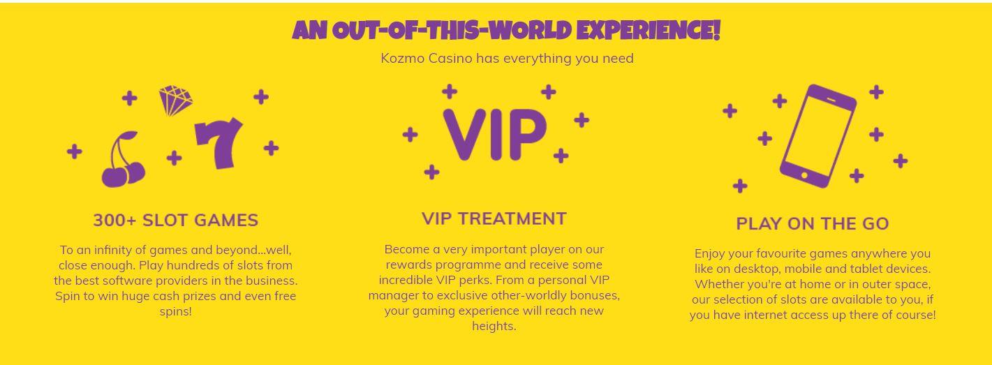 kozmo casino VIP