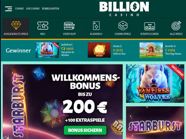 Visit Billion Casino