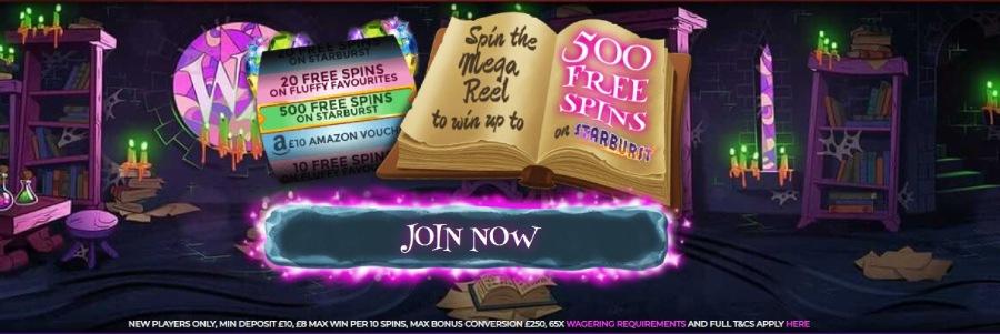 wizard slots welcome bonus
