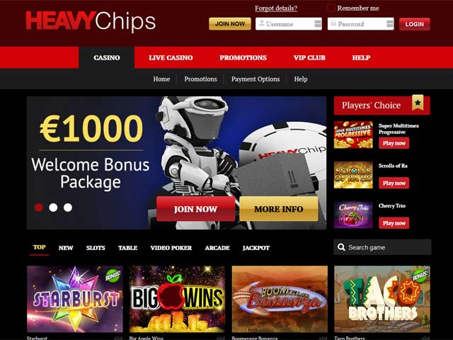 Visit Heavy Chips Casino