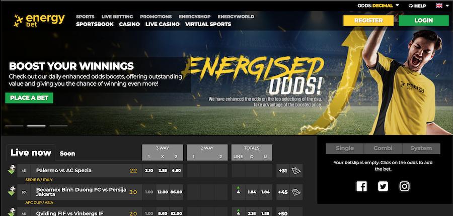 EnergyBet 虚拟体育