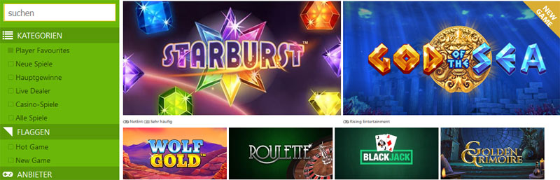 Slot-Fruity-Casino-spieleangebot