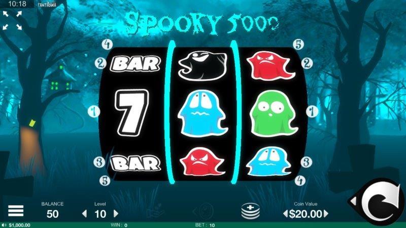 spooky 5000 spelautomat