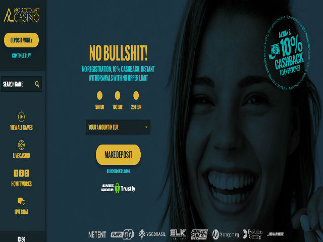 Visit No Account Casino