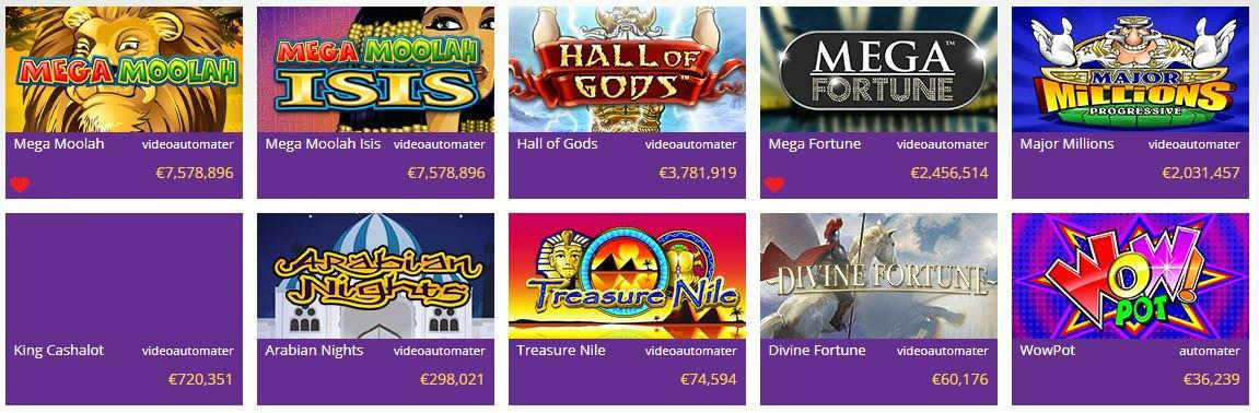 Jackpottar från yako casino hemsida