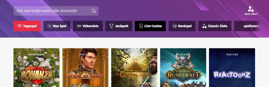 gutsxpress casino spel och bonusfunktioner