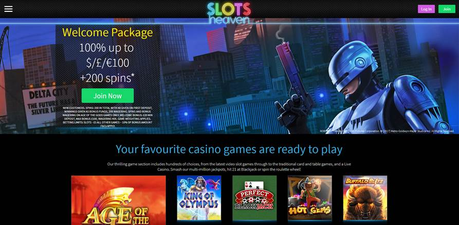 slots heaven casino screenshot