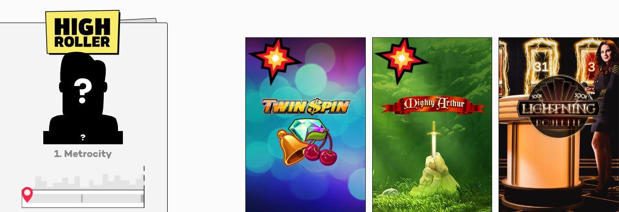 highroller casino recension och bild på svenska hemsidan