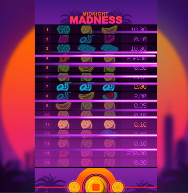midnight madness slot