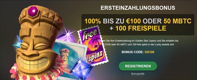 Golden Star Casino Willkommensbonus
