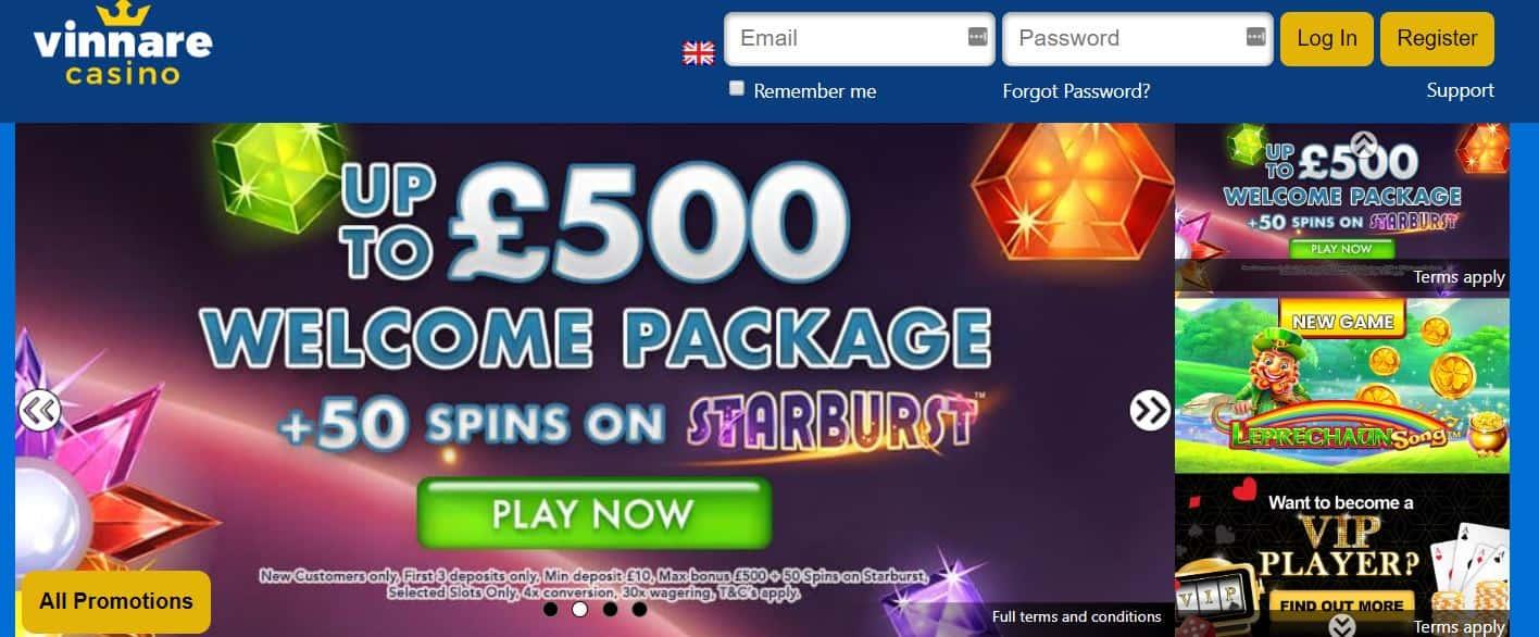 vinnare online casino promotion