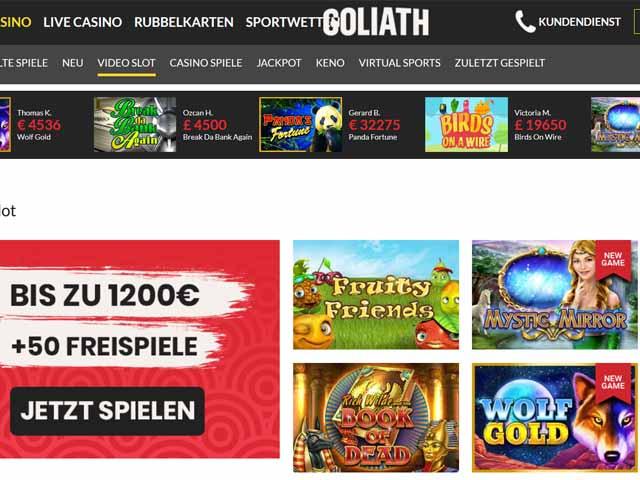 Visit Goliath Casino