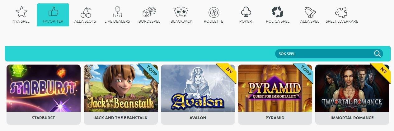 bild på hemsidan av miami dice casinosida 2