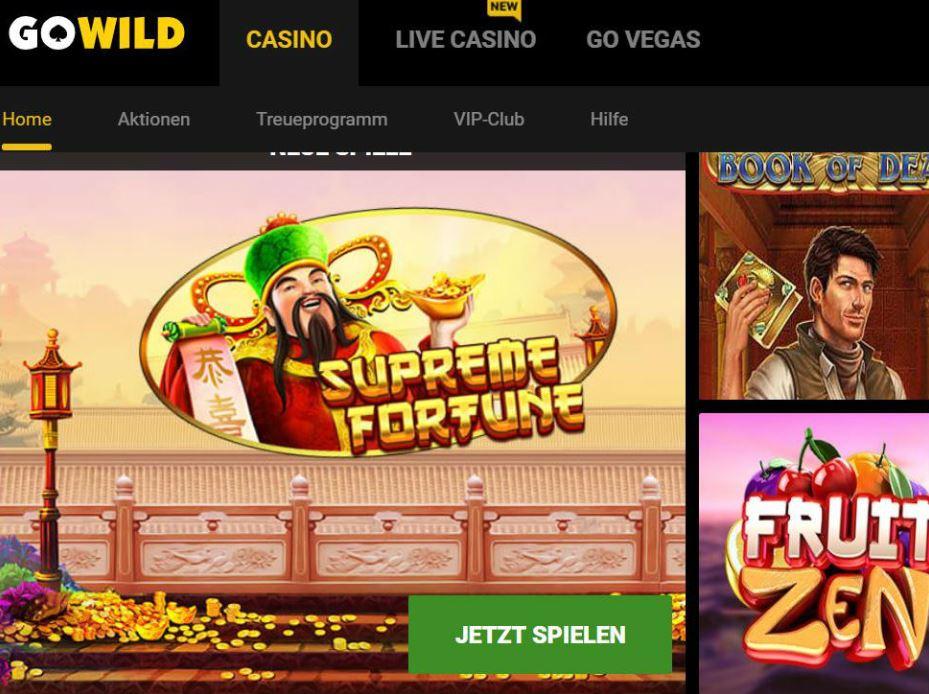 Visit Go Wild Casino