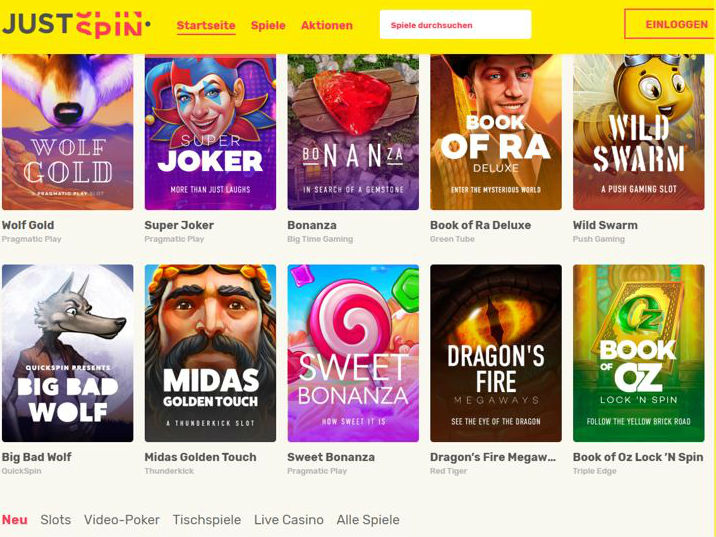 Visit Just Spin Casino